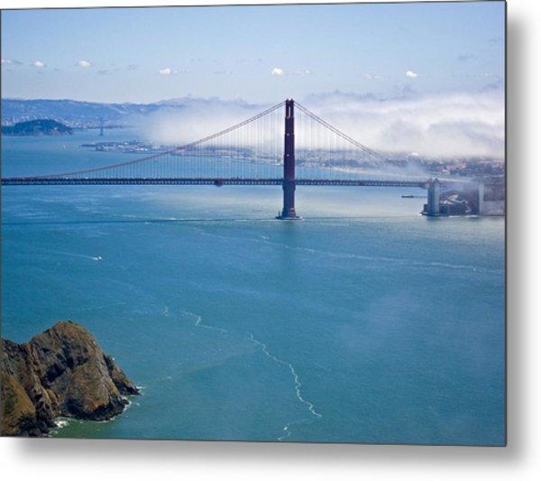 Golden Gate View Metal Print