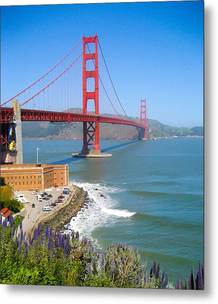 Golden Gate Wildflowers Metal Print