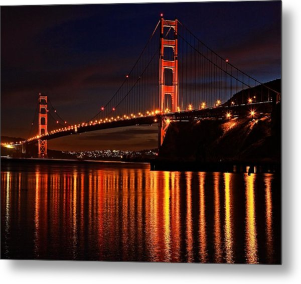 Golden Glory Metal Print