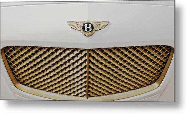 Golden Grill Bentley Metal Print