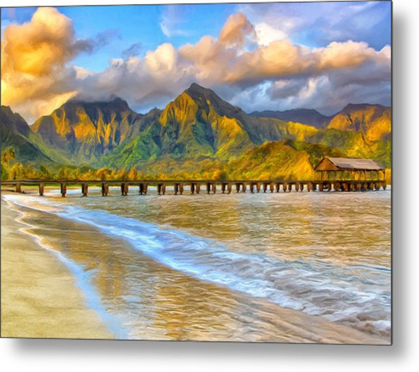 Golden Hanalei Morning Metal Print