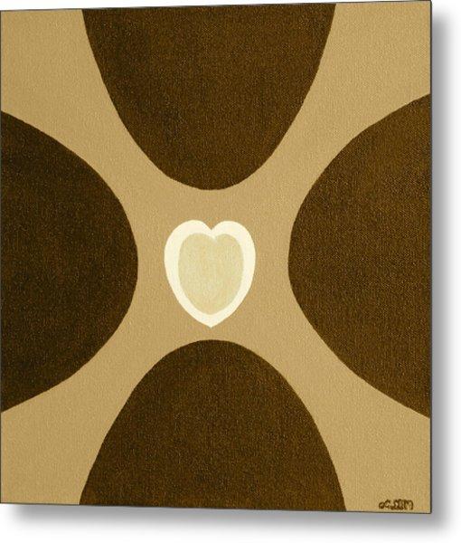 Golden Heart 3 Metal Print