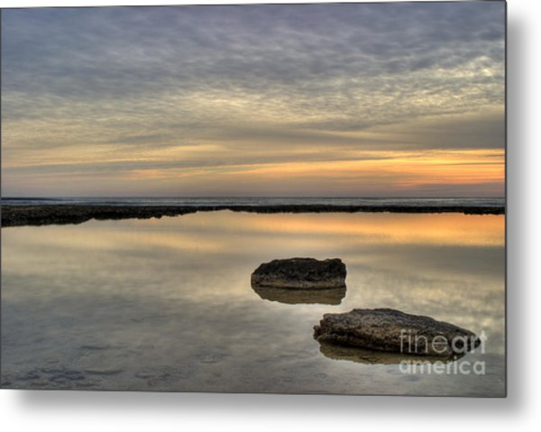 Golden Horizon Metal Print