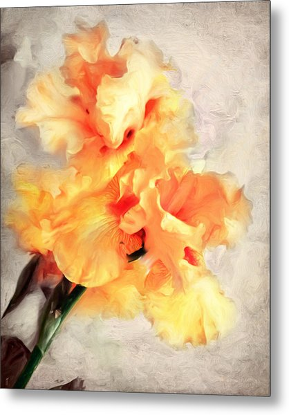 Golden Iris 1 Metal Print