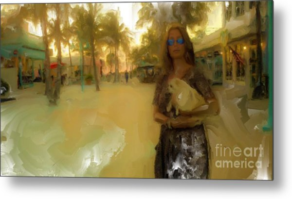 Golden Lady Metal Print by Rod Pena