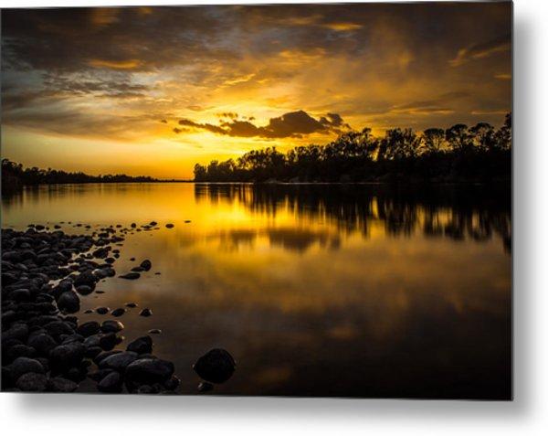 Golden Lake Natoma Metal Print