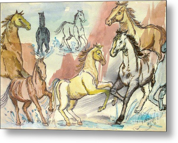 Golden Mare Metal Print