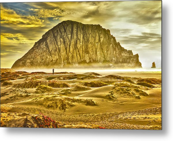 Golden Morro Bay Metal Print
