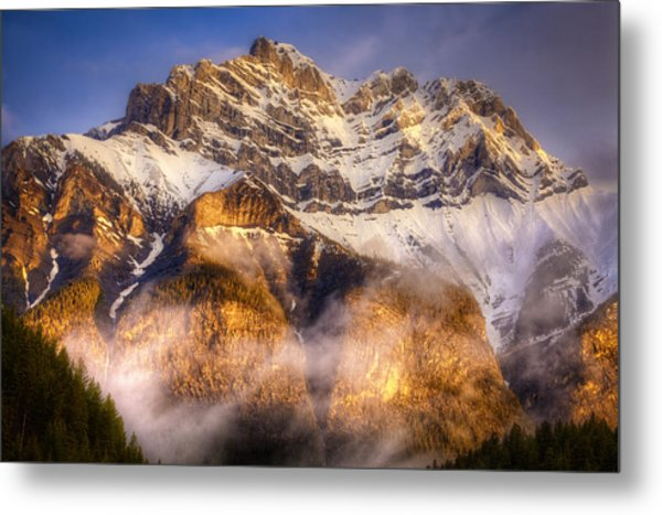Golden Mountain Metal Print by Stuart Deacon