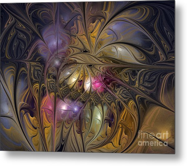 Golden Ornamentations-fractal Design Metal Print