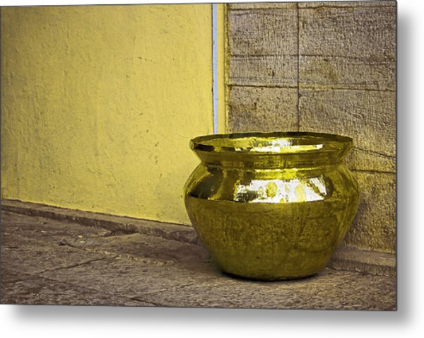 Golden Pot Metal Print