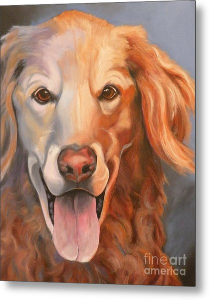 Golden Retriever Till There Was You Metal Print