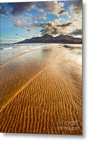 Golden Ripples Metal Print by Derek Smyth