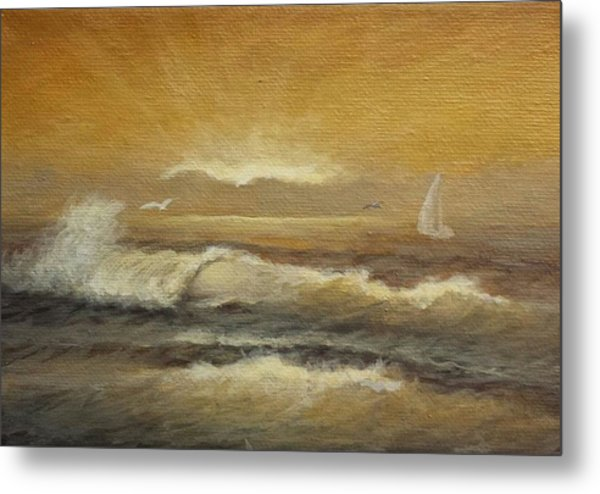 Golden Sail Metal Print