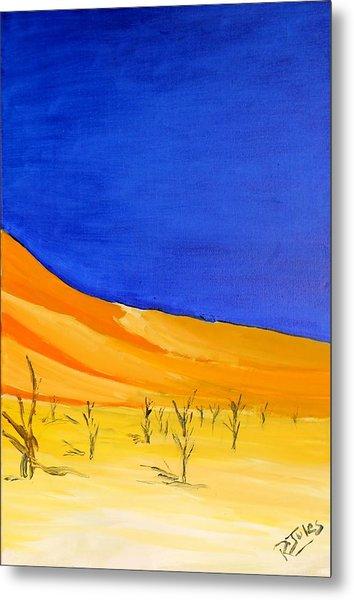 Golden Sand Dune Right Panel Metal Print