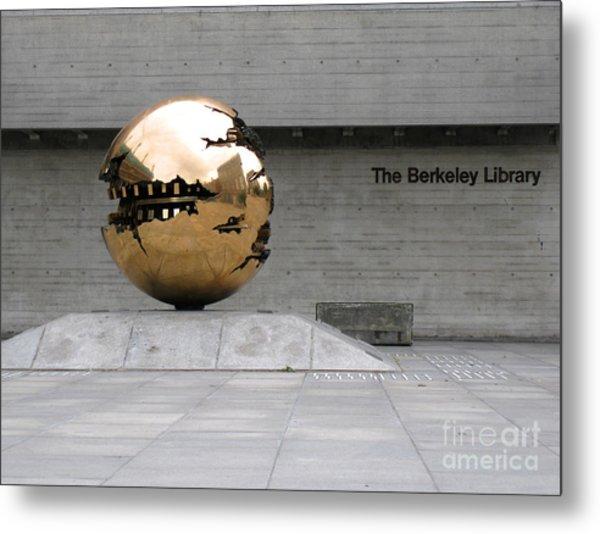 Golden Sphere By The Berkeley Library Metal Print
