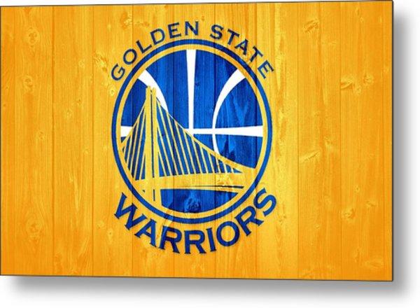 Golden State Warriors Barn Door Metal Print