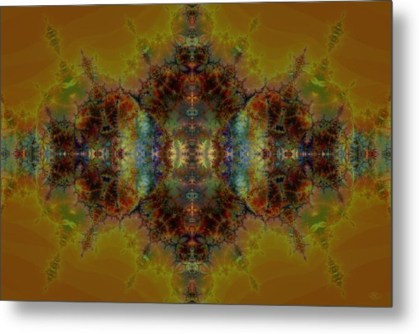Golden Tapestry Metal Print