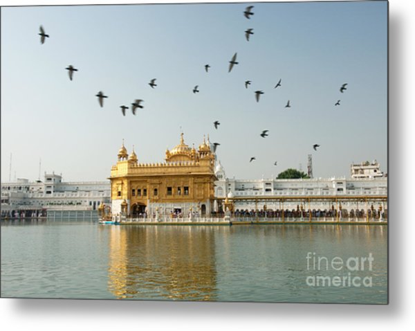Metal Print featuring the photograph Golden Temple In Amritsar by Yew Kwang