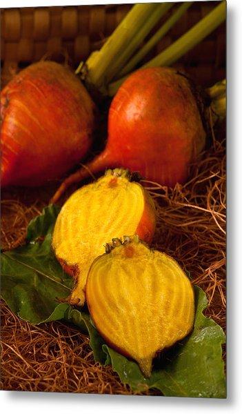 Golden Turnips Metal Print