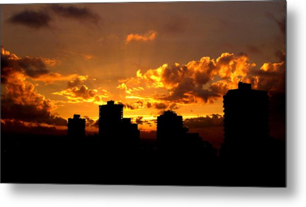 Golden Vancouver Sunset Metal Print