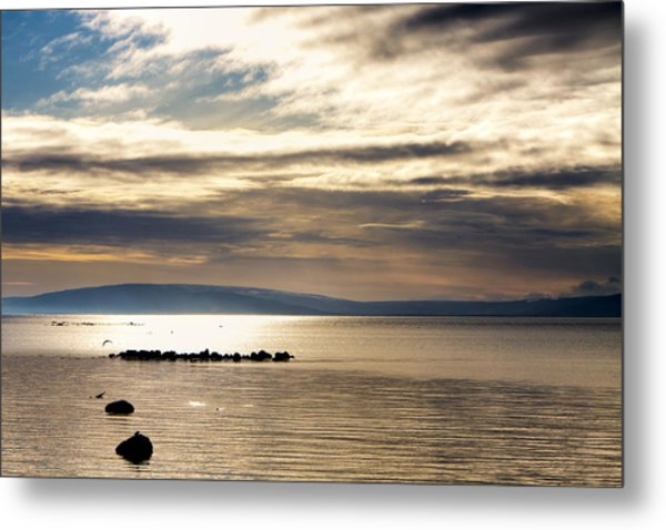 Golden Waters Of Galway Bay Metal Print by Mark Tisdale