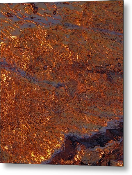 Metal Print featuring the photograph Golden Waters by Sami Tiainen