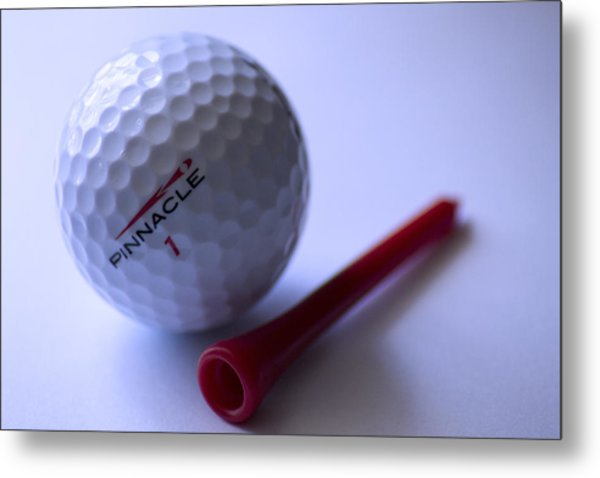Golf And Pin Metal Print by Rienye Nyika