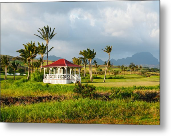 Golf Course On Poipu Shores Kauai Metal Print