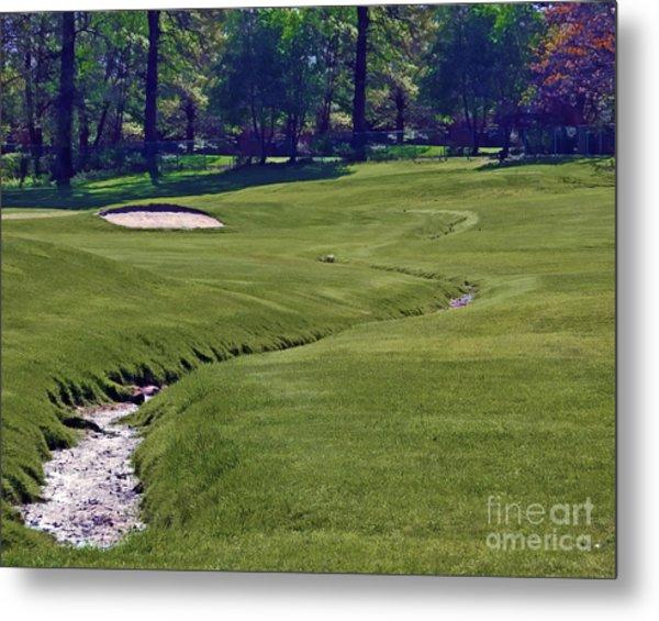 Golf Hazards Metal Print