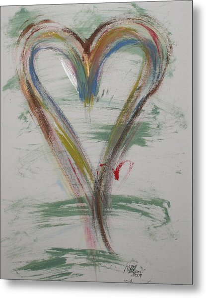 Golf Heart Metal Print