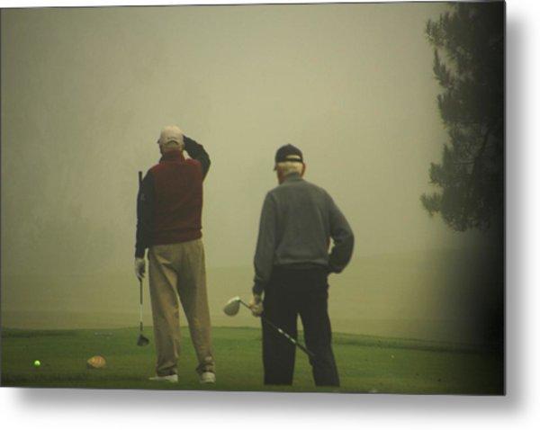 Golf In A Fog Metal Print