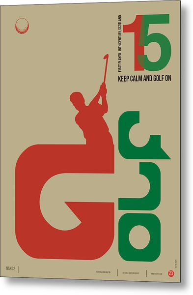 Golf Poster Metal Print