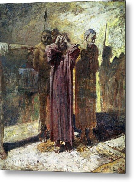 Golgotha, 1892-93 Oil On Canvas Metal Print