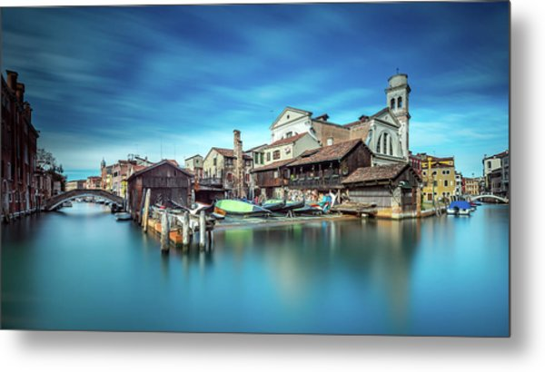 Gondola Workshop In Venice Metal Print