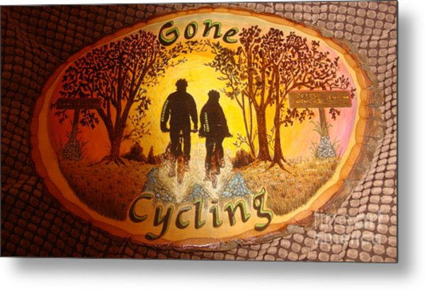 Gone Cycling Metal Print by Dakota Sage