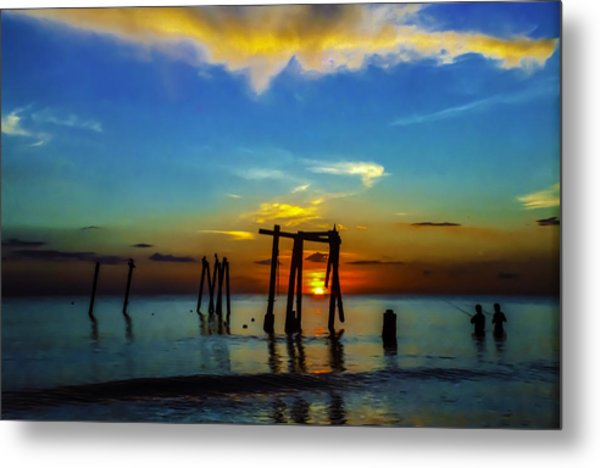 Gone Fishin Metal Print