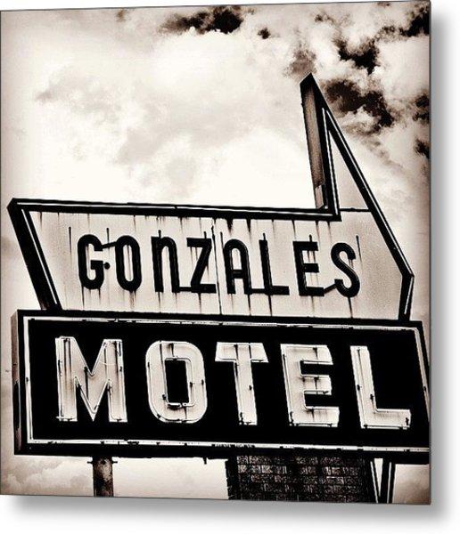 Gonzales Motel Metal Print