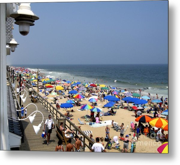 Good Beach Day At Bethany Beach In Delaware Metal Print
