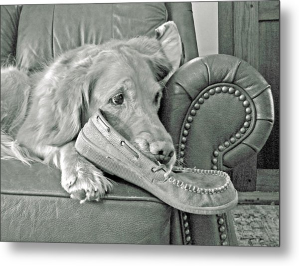 Good Day To Be On The Couch With My Slippers Metal Print