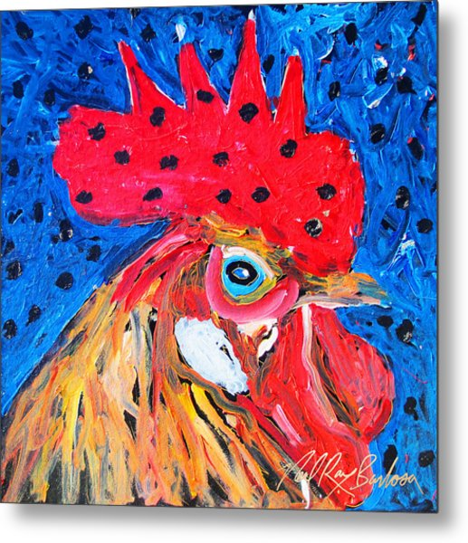 Good Luck Rooster Metal Print