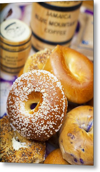 Good Morning Bagels Metal Print