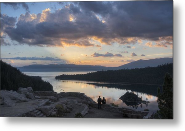 Good Morning Emerald Bay Metal Print