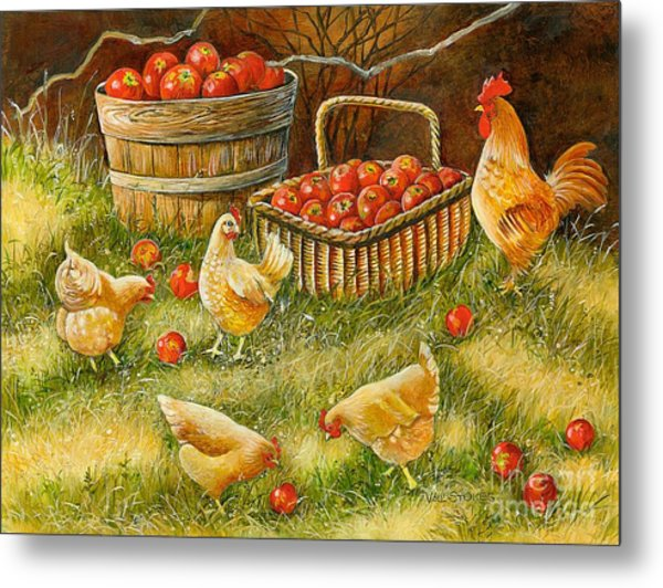 Good Pickings Metal Print by Val Stokes
