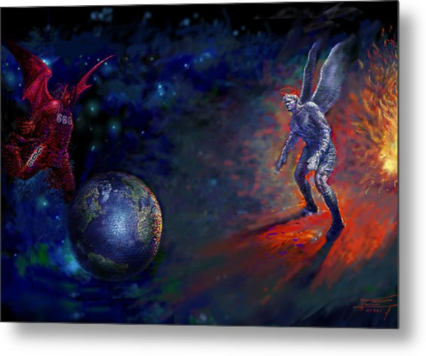 Good Vs Evil Metal Print