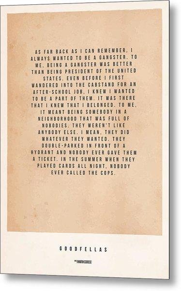 Goodfellas Metal Print