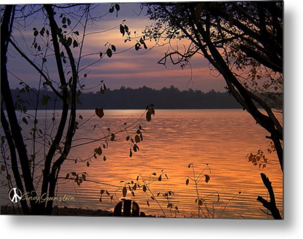 Goodnight Lake Metal Print