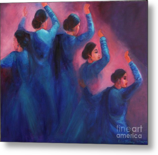 Gopis Dancing In The Dusk Metal Print