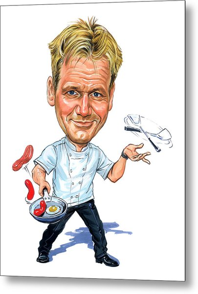 Gordon Ramsay Metal Print