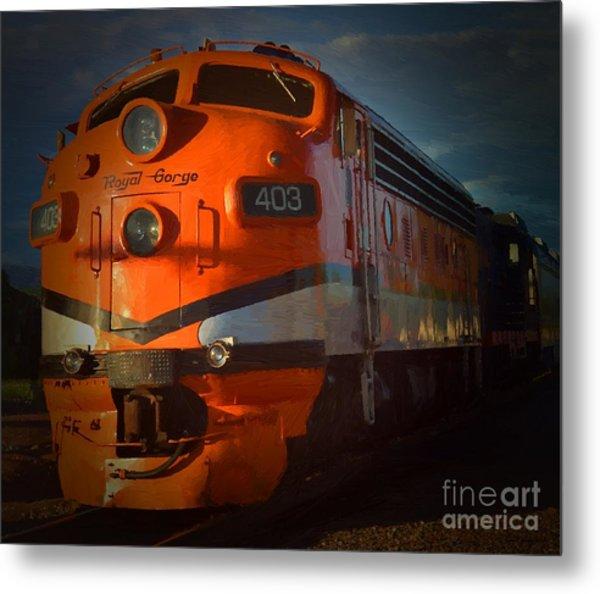 Gorge Train Metal Print